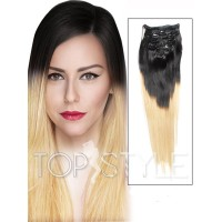 extensii-clipon-ombre-black-blonde