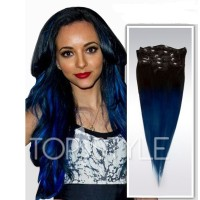 extensii-clipon-ombre-black-blue